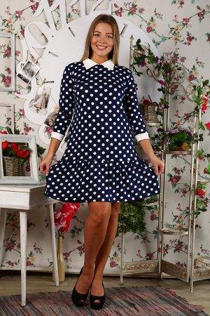 Д437 Платье Валерия вискоза (Горох)