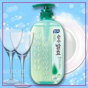 """LION Средство для мытья посуды, овощей и фруктов  """"CHAMGREEN Pure Fermentation""""  Горные травы, флакон-доз."""