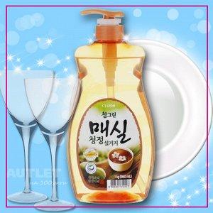 """LION Средство для мытья посуды, овощей и фруктов  """"CHAMGREEN"""" Японский абрикос, флакон-дозатор"""
