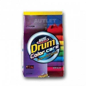 LION Концентрированный стиральный порошок «BEAT DRUM COLOR CARE» защита цвета (для цв. белья) для автомат. стирки, мягк. уп.