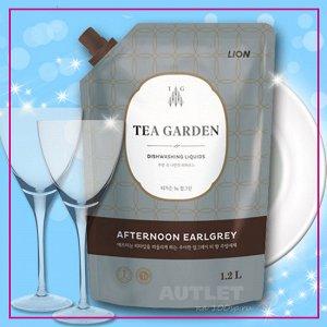 "LION Средство для мытья посуды Chamgreen Tea Garden ""Бергамот"", мягкая упаковка"