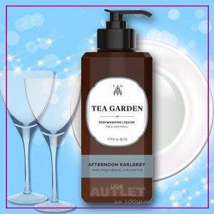 "LION Средство для мытья посуды Chamgreen Tea Garden ""Бергамот"", флакон 500 гр"
