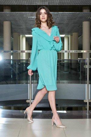 Платье Платье AMORI  9386 мята  Состав ткани: ПЭ-96%; Спандекс-4%;  Шифоновое платье. В красивом мятном цвете. Длина на рост 170 - 103 см, на рост 164 - 96 см. Длина рукава 66 см.  Подходит на рост 1