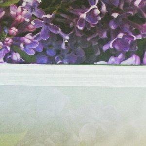 "Фотошторы ""Цветет сирень"" 145х260 см 2шт. габардин 160гр/м2. пэ100%"