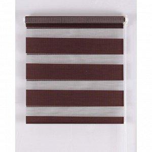 Рулонная штора Магеллан (шторы и фурнитура) «День и Ночь». размер 60?160 см. цвет шоколад