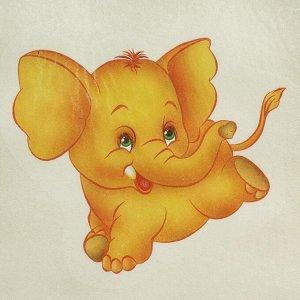 """Шапка для бани с детской термопечатью """"Жёлтый слон"""""""
