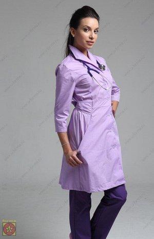 Хороший стильный медицинский халат 46 размер. Скидка!