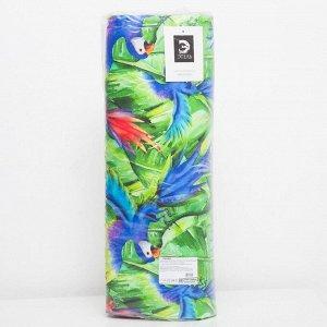 Матрас на шезлонг «Этель» Попугай, 55?190+2 см, репс с пропиткой ВМГО, 100% хлопок