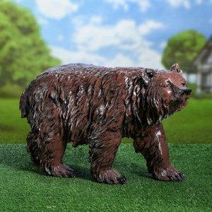 """Садовая фигура """"Медведь бурый"""", коричневый цвет, 35 см"""