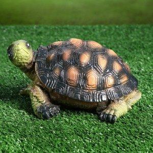 """Садовая фигура """"Черепаха Ник"""", зелёно-коричневый цвет, 10 см"""