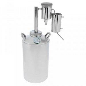 Дистиллятор «Лидер», 20 л, большой разборный сухопарник со сливом, термометр