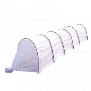 Парник прошитый, 5 м, 6 дуг, металлическая дуга 2 м, d=10 мм, спанбонд 60 г/м2,