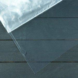 Плёнка полиэтиленовая, 60мкм, 3*10м, рукав (1,5м*2), прозрачная, 1 сорт, Эконом 50%,