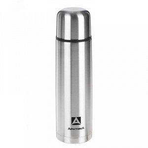 Набор : термос вакуумный для напитков 1 л, 2 кружки невакуумные 300 мл, хром 1167142