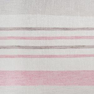 Штора портьерная «Этель» 260?260 см. Меланж розовый (горизонтальная полоса) б/утяжелителя