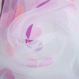 Тюль Этель «Цветы лета» ширина 135 см. высота 270 см
