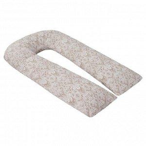 Подушка для беременных U-образная, размер 35 ? 340 см, дамаск кофе