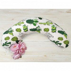 Подушка для беременных, размер 25 ? 170 см, принт кактусы