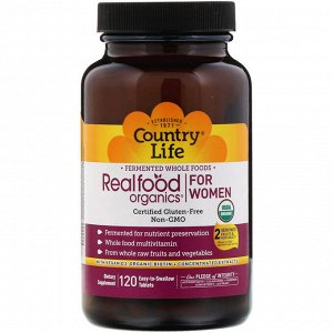 Country Life, Realfood Organics for Women, 120 Easy-to-Swallow Tablets
