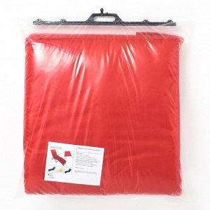 Подушка-матрас водоотталкивающ., цвет красный, 190х60х3,5см,