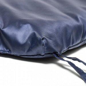 Подушка-матрас водоотталкивающ. 190х60х3,5 см, чёрно-синий