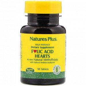Nature&#x27 - s Plus, Folic Acid Hearts, 90 Tablets