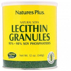 Nature&#x27 - s Plus, Гранулы лецитина, натуральная соя 12 унции (340 г)