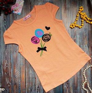 Футболка Качественная футболка для вашей принцессы!  100% хлопок. Короткий рукав , круглый ворот для подвижных детей. Размеры изделия: указан рост ребенка 5-80см 7-90см 9-100см 11-110см 13-120см