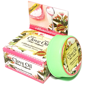Отбеливающая зубная паста Clove Oil с гвоздичным маслом, 30 гр.