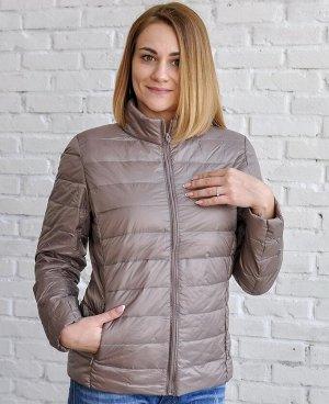 Ультралегкая женская куртка, цвет хаки бежевый