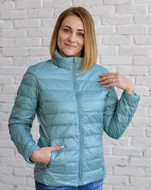 Ультралегкая женская куртка, цвет голубой жемчуг