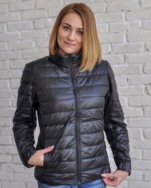 Ультралегкая женская куртка, цвет черный