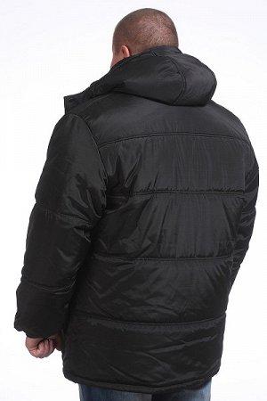 Куртка зимняя черная с капюшоном