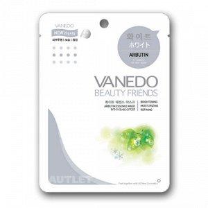 All New Cosmetic Vanedo Beauty Friends Выравнивающая тон кожи маска для лица с арбутином 25 гр