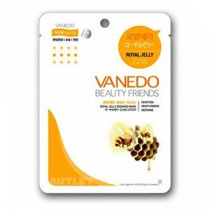 All New Cosmetic Vanedo Beauty Friends Омолаживающая маска для лица с эссенцией маточного молочка пчел 25 гр