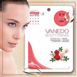 All New Cosmetic Vanedo Beauty Friends Восстанавливающая маска для лица с эссенцией розы 25 гр