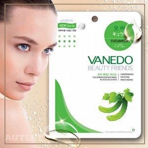 All New Cosmetic Vanedo Beauty Friends Успокаивающая маска для лица с огуречной эссенцией 25 гр