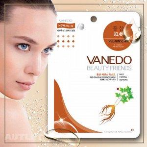 All New Cosmetic Vanedo Beauty Friends Сужающая поры маска для лица с эссенцией красного женьшеня 25 гр