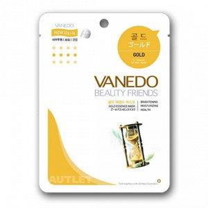 All New Cosmetic Vanedo Beauty Friends Активирующая клетки кожи маска для лица с частицами золота 25 гр
