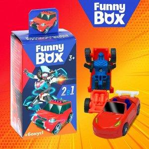 Набор для детей Funny Box «Трансформеры» Набор: карточка, фигурка, лист наклеек, МИКС