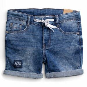 Шорты текстильные джинсовые для мальчиков