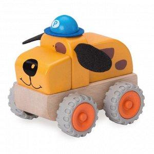 """Деревянная игрушка-конструктор Miniworld """"Полицейская машинка-собачка"""""""