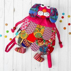 Мягкий рюкзак «Пёсик», лоскутный, цвета МИКС