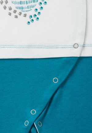 Комбинезон Количество в упаковке: 1; Артикул: МИ-ЛС-01-004-05; Цвет: Голубой; Ткань: Интерлок; Состав: 100% Хлопок; Цвет: Голубой 100% хлопок