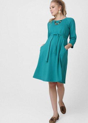 """Платье """"Рената"""" для беременных и кормящих зеленое"""