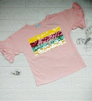 Футболка розовая девочке