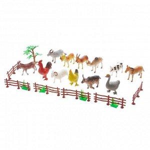 Набор животных «Моя ферма», 12 фигурок, с аксессуарами