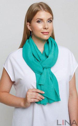 Шарф Оранж, синий, зеленый, голубой. вискоза 55%, полиэстер 45%. 70х200