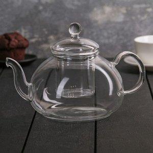"Чайник заварочный со стеклянным ситом ""Валенсия"" 1000 мл, 22х13,5х12 см"