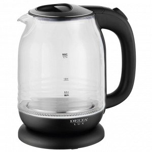 Чайник электрический 2200 Вт, 1,7 л DELTA LUX DL-1206B черный